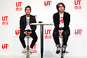 "(L to R) Rei Matsunuma , Global Marketing Projector of UNIQLO Co., Ltd. and Yugo Nakamura, Creative Director of UTme! application attend a special Uniqlo media event to promote the ""UTme!"" smart phone application on April 28, 2015. The application allows customers to upload their own designs to sell through ""UTme! Market"". Customers also can select new effects, characters and designs from Coca-Cola, Mottchy the Kakkoii-inu and fashion magazine Non-no. (Photo by Rodrigo Reyes Marin/AFLO)"