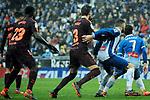 League Santander 2017-2018 - Game: 22.<br /> RCD Espanyol vs FC Barcelona: 1-1.<br /> Gerard Pique vs David Lopez.