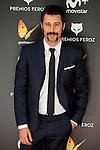 Hugo Silva attends to the Feroz Awards 2017 in Madrid, Spain. January 23, 2017. (ALTERPHOTOS/BorjaB.Hojas)