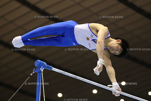 Kazuhito Tanaka (JPN), .MAY 4, 2012 - Artistic Gymnastics : .The 51st NHK Cup .Men's Individual All-Around Competition .Horizontal Bar .at Yoyogi 1st Gymnasium, Tokyo, Japan. .(Photo by YUTAKA/AFLO SPORT) [1040]