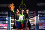 Davide Ballerini (ITA) Androni Giocattoli retains the Maglia Verde mountains jersey at the end of Stage 3 of the 2017 Tirreno Adriatico running 204km from Monterotondo Marittimo to Montalto di Castro, Italy. 10th March 2017.<br /> Picture: La Presse/Gian Mattia D'Alberto | Cyclefile<br /> <br /> <br /> All photos usage must carry mandatory copyright credit (&copy; Cyclefile | La Presse)