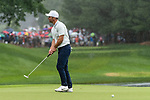 CROMWELL, CT. 21 June 2019-062119 - PGA Tour player Paul Casey reacts after missing his birdie putt on the par 3 eighth hole, during the second round of the Travelers Championship at the TPC River Highlands in Cromwell on Thursday. Bill Shettle Republican-American
