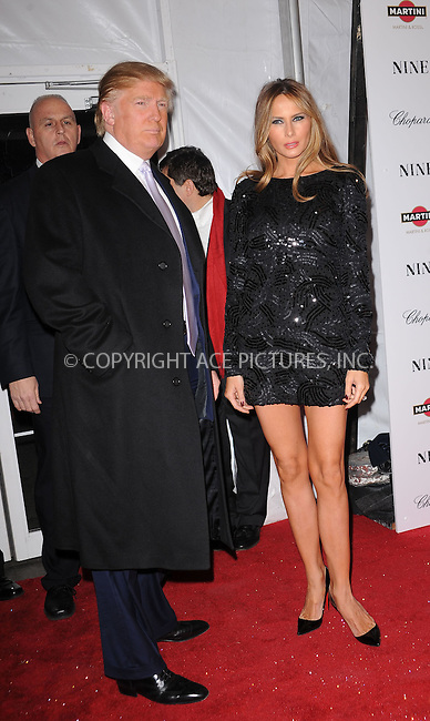 WWW.ACEPIXS.COM . . . . . ....December 15 2009,  New York City....Donald Trump and Melania Trump arriving at the New York premiere of 'Nine' at the Ziegfeld Theatre on December 15 2009 in New York City....Please byline: KRISTIN CALLAHAN - ACEPIXS.COM.. . . . . . ..Ace Pictures, Inc:  ..(212) 243-8787 or (646) 679 0430..e-mail: picturedesk@acepixs.com..web: http://www.acepixs.com
