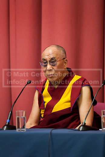 19/06/2012. LONDON, UK. His Holiness the Dalai Lama is seen at the University of Westminster's Oxford Street campus as he gives a talk on the values of democracy and Tibet in London today (19/0612). The talk came as part of the Dalai Lama's visit to London to spread a message of non-violence, dialogue and universal responsibility, particularly to young people.. Photo credit: Matt Cetti-Roberts