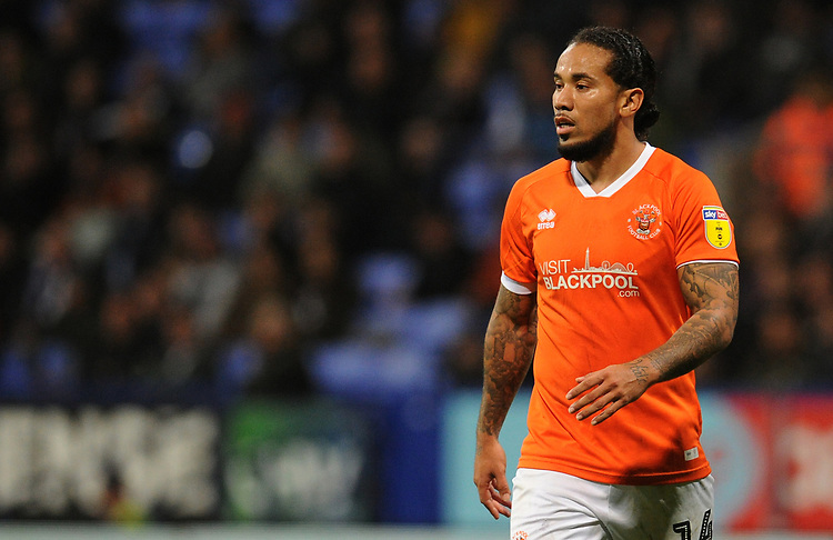 Blackpool's Sean Scannell<br /> <br /> Photographer Kevin Barnes/CameraSport<br /> <br /> The EFL Sky Bet League One - Bolton Wanderers v Blackpool - Monday 7th October 2019 - University of Bolton Stadium - Bolton<br /> <br /> World Copyright © 2019 CameraSport. All rights reserved. 43 Linden Ave. Countesthorpe. Leicester. England. LE8 5PG - Tel: +44 (0) 116 277 4147 - admin@camerasport.com - www.camerasport.com