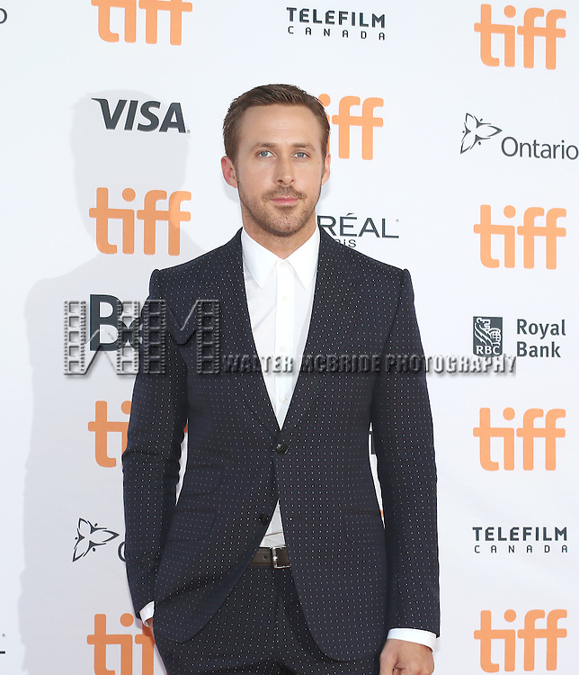 Ryan Gosling attends the 'La La Land' Premiere during the 2016 Toronto International Film Festival at Princess of Wales Theatre on September 12, 2016 in Toronto, Canada.