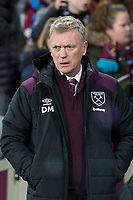 West Ham United Manager David Moyes ahead the Premier League match between West Ham United and Arsenal at the Olympic Park, London, England on 13 December 2017. Photo by Andy Rowland.