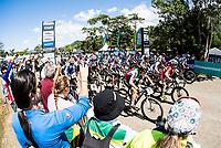 Picture by Alex Broadway/SWpix.com - 07/09/17 - Cycling - UCI 2017 Mountain Bike World Championships - XCO - Cairns, Australia - Start of the Women's Junior World Championship Race.