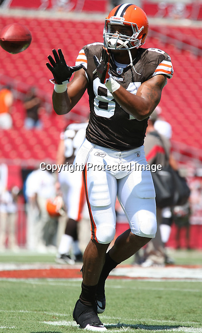 .The Browns played the Buccaneers, in the opening NFL regular season game Sunday, Sept. 12, 2010 in Tampa,Fla. (AP Photo/Margaret Bowles)