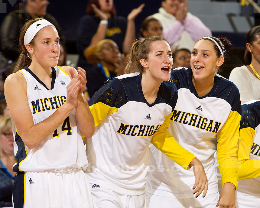 The University of Michigan women's basketball team beat Florida Atlantic, 73-51, at Crisler Arena in Ann Arbor, Mich., on November 14, 2011.