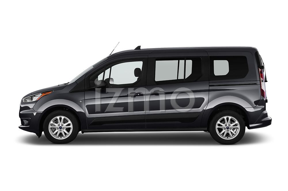 Car Driver side profile view of a 2019 Ford Transit-Connect XLT 5 Door Combi Side View