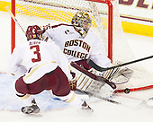 Patch Alber (BC - 3), Parker Milner (BC - 35) - The Boston College Eagles defeated the visiting Boston University Terriers 5-2 on Saturday, December 1, 2012, at Kelley Rink in Conte Forum in Chestnut Hill, Massachusetts.