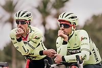 John DEGENKOLB (DEU/Trek-Segafredo) &amp; Edward THEUNS (BEL/Trek-Segafredo) thinking alike...<br /> <br /> Team Trek-Segafredo training camp<br /> Mallorca jan2019<br /> <br /> &copy;kramon