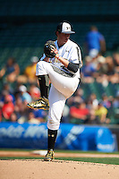 Forrest Whitley (26) of Alamo Heights High School in San Antonio, Texas during the Under Armour All-American Game on August 15, 2015 at Wrigley Field in Chicago, Illinois. (Mike Janes/Four Seam Images)