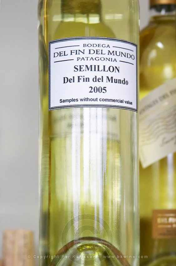 Bottle of Semillon del fin del Mundo 2005 barrel sample Bodega Del Fin Del Mundo - The End of the World - Neuquen, Patagonia, Argentina, South America