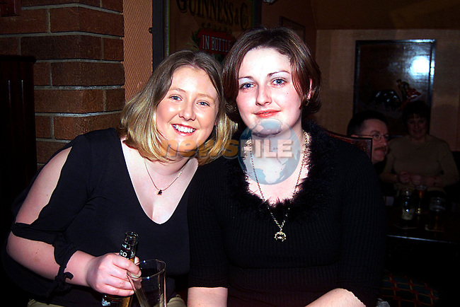 Irene Brannigan and Mellissa Ponnelly in the Trinity Arms...Pic Tony Campbell/Newsfile