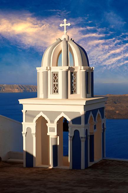 Bell tower of an Orthodox church, Fira, Santorini