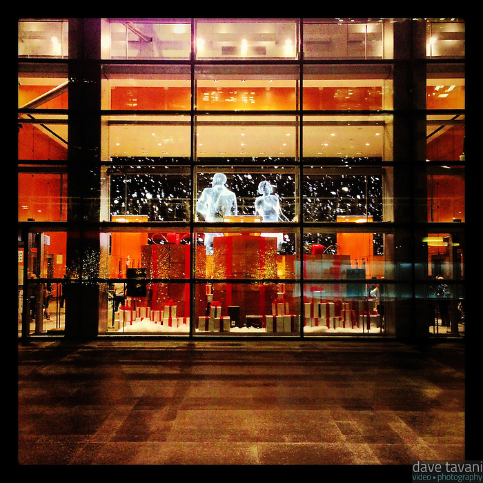 The Comcast Holiday Spectacular plays at the Comcast Center. This is the view from outside on the evening of December 7, 2012.