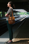Rachael Maddux takes MARTA to and from work. Seen at a station in Decatur April 27, 2013.