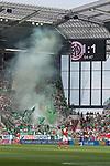 12.05.2018, OPEL Arena, Mainz, GER, 1.FBL, 1. FSV Mainz 05 vs SV Werder Bremen<br /> <br /> im Bild<br /> Fans von Werder Bremen im G&auml;stefanblock mit Pyrotechnik, <br /> <br /> Foto &copy; nordphoto / Ewert
