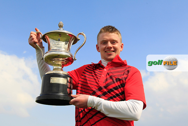 Paul McCarthy (Mallow) winner of the 2015 Munster Youths' Open Championship, Tralee Golf Club, Tralee, Co.Kerry Ireland.<br /> Picture: Thos Caffrey / Golffile