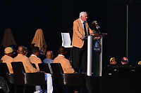 Canton, Ohio - August 3, 2019: Gil Brandt gives his enshrinement speech at the Tom Benson Hall of Fame Stadium in Canton, Ohio August 3, 2019 after his induction into the Pro Football Hall of Fame.  (Photo by Don Baxter/Media Images International)