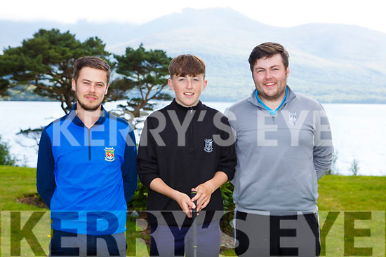 Mark Beckett club Pro, Ryan Kelliher and Luke Sweeney Killarney on the putting green in Killarney Golf club on Monday