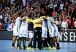 12.01.2018., Croatia, Zatika Sports Hall, Porec - European Handball Championship, Group B, 1st Round, France - Norway. Celebration of the French national team. <br /> <br /> Foto &copy; nordphoto / Igor Kralj/PIXSELL