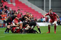 Godlen Masimla of Southern Kings in action during the Guinness Pro14 Round 5 match between Scarlets and Isuzu Southern Kings at the Parc Y Scarlets in Llanelli, Wales, UK. Saturday 29 September 2018