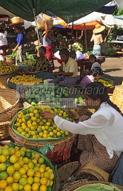 Asie/Birmanie/Myanmar/Haute Birmanie/Mandalay: Le marché