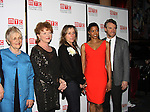 One Life To Live's Renee Elise Goldsberry poses with the cast Estelle Parsons, Becky Ann Baker, Frances McDormand and Tate Donovan - Opening Night of Broadway's Good People on March 3, 2011 at the Samuel J. Friedman Theatre, New York City, New York with the after party was at B.B. Kings, NYC. (Photo by Sue Coflin/Max Photos)