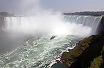 Niagara Falls, Ontario, Canada - 01 August 2006---The 'Maid of the Mist', a boat with tourists / visitors cruising on the Niagara River into the Horseshoe Falls---transport, tourism, landscape, nature---Photo: © HorstWagner.eu