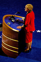 North Carolina Gov. Bev Perdue speaks during day one of the Democratic National Convention at Time Warner Cable Arena.