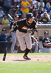 Ichiro Suzuki (Marlins),<br /> JUNE 15, 2016 - MLB :<br /> Ichiro Suzuki of the Miami Marlins hits a double to the right for his 4257th career hit in the ninth inning during the Major League Baseball game against the San Diego Padres at Petco Park in San Diego, California, United States. (Photo by Thomas Anderson/AFLO) (JAPANESE NEWSPAPER OUT)