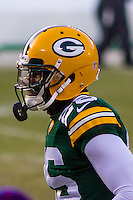 Green Bay Packers cornerback Herb Waters (26) prior to a game against the New York Giants on January 8th, 2017 at Lambeau Field in Green Bay, Wisconsin.  Green Bay defeated New York 38-13. (Brad Krause/Krause Sports Photography)