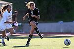 Manhattan Beach, CA 01/21/10 - Sophie Miller (C)  (Peninsula #7) and Alyssa Covarrubio (Mira Costa #14)  in action during the Mira Costa vs Peninsula Bay League soccer game at Mira Costa.  Peninsula defeated Mira Costa 2-0.