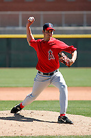 Ryan Aldridge - Los Angeles Angels - 2009 spring training.Photo by:  Bill Mitchell/Four Seam Images