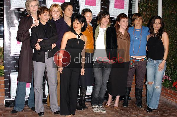 "Cast of ""The L Word""<br />at the launch of ""L eau de parfum"". Fred Segal, Los Angeles, CA. 02-15-06<br />Scott Kirkland/DailyCeleb.Com 818-249-4998"