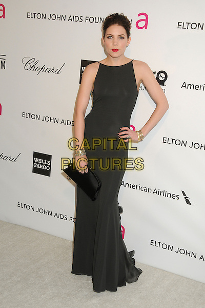 Skylar Grey.21st Annual Elton John Academy Awards Viewing Party held at West Hollywood Park, West Hollywood, California, USA..February 24th, 2013.oscars full length dress black sleeveless clutch bag hand on hip.CAP/ADM/BP.©Byron Purvis/AdMedia/Capital Pictures.