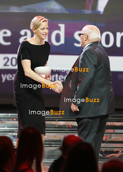 Princess Charlene of Monaco attends the 7th Peace and Sport Forum Awards Ceremony at the 'Salle des Etoiles' of Sporting Monte-Carlo, where she formally became the Ambassador of Peace and Sport. <br /> Monte-Carlo, November 7, 2013.