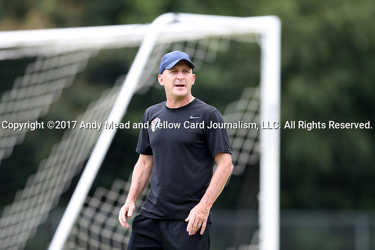 CARY, NC - JULY 11: Paul Riley. The North Carolina Courage held a training session on July 11, 2017, at WakeMed Soccer Park Field 6 in Cary, NC.