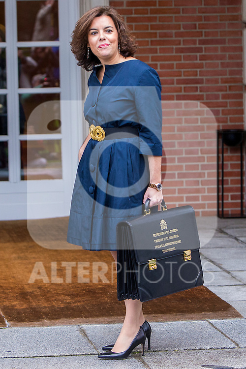 Spanish Deputy Prime Minister and Minister of the Regions Soraya Saenz de Santamaria Anton  during the prensentation of Rajoy's New Government at Moncloa Palace in  Madrid, Spain. November 04, 2016. (ALTERPHOTOS/Rodrigo Jimenez)