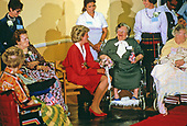 Princess Diana chats with residents of the Washington Home and Hospice during her three day visit to Washington, DC accompanied by Prince Charles on November 9, 1985.<br /> Credit: Diana Walker / Pool via CNP