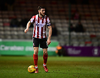 Lincoln City's Luke Waterfall<br /> <br /> Photographer Chris Vaughan/CameraSport<br /> <br /> The EFL Sky Bet League Two - Lincoln City v Cheltenham Town - Tuesday 13th February 2018 - Sincil Bank - Lincoln<br /> <br /> World Copyright &copy; 2018 CameraSport. All rights reserved. 43 Linden Ave. Countesthorpe. Leicester. England. LE8 5PG - Tel: +44 (0) 116 277 4147 - admin@camerasport.com - www.camerasport.com