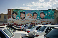 June 23, 2014 - Shiraz, Iran. Cars are seen in a parking lot of Shiraz. Due to the international sanctions, importation of foreign cars is expensive and many Iranians opt to buy locally produced cars. © Thomas Cristofoletti / Ruom
