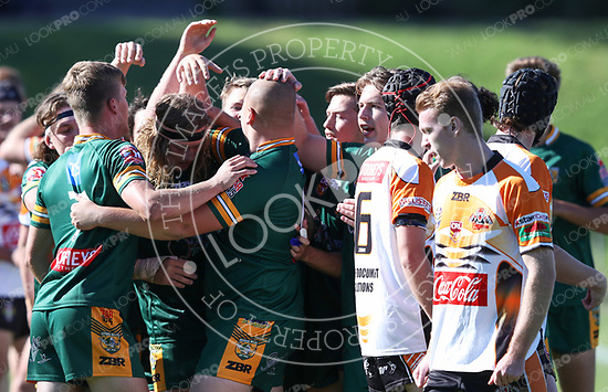The Wyong Roos play The Entrance Tigers in Round 5 of the U19's Central Coast Rugby League Division at Morry Breen Oval on 6 May, 2018 in Kanwal, NSW Australia. (Photo by Paul Barkley/LookPro)