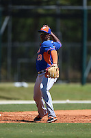 New York Mets Pedro Perez (23) during practice before a minor league spring training game against the Miami Marlins on March 30, 2015 at the Roger Dean Complex in Jupiter, Florida.  (Mike Janes/Four Seam Images)