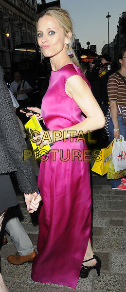 Laura Bailey<br /> attended the Royal Academy Summer Exhibition 2013 VIP preview party, Royal Academy of Arts, Burlington House, Piccadilly, London, England, UK, 5th June 2013.<br /> full length pink dress silk satin sleeveless side funny face <br /> CAP/CAN<br /> &copy;Can Nguyen/Capital Pictures