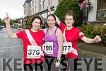Lorraine Hartnett (Listowel) Yvonne Murphy (Millstreet) and Deirdre Hartnett (Listowel), who took part in the Rose of Tralee 10k on Sunday morning last.