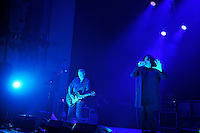 LONDON, ENGLAND - NOVEMBER 4: Geordie Walker and Jaz Coleman of 'Killing Joke' performing at Brixton Academy on November 4, 2016 in London, England.<br /> CAP/MAR<br /> &copy;MAR/Capital Pictures /MediaPunch ***NORTH AND SOUTH AMERICAS ONLY***
